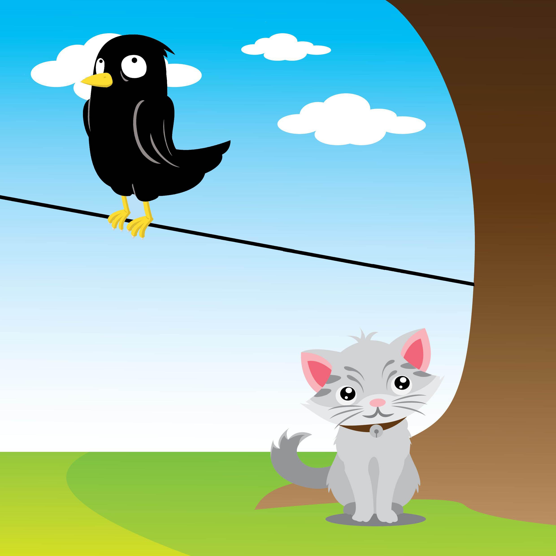 Karga ve Kedinin Dostluğu
