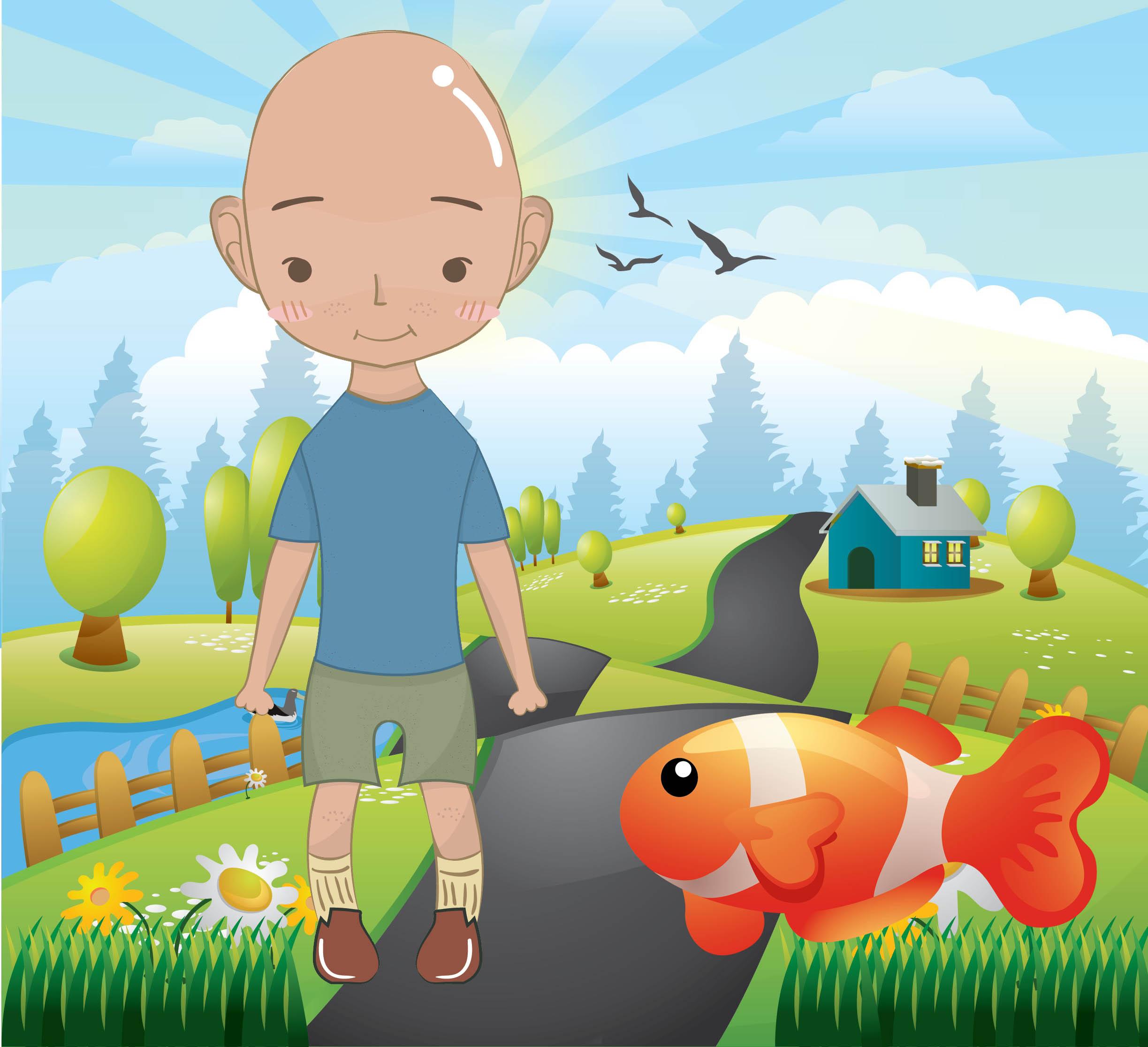 Keloğlan ile Balık