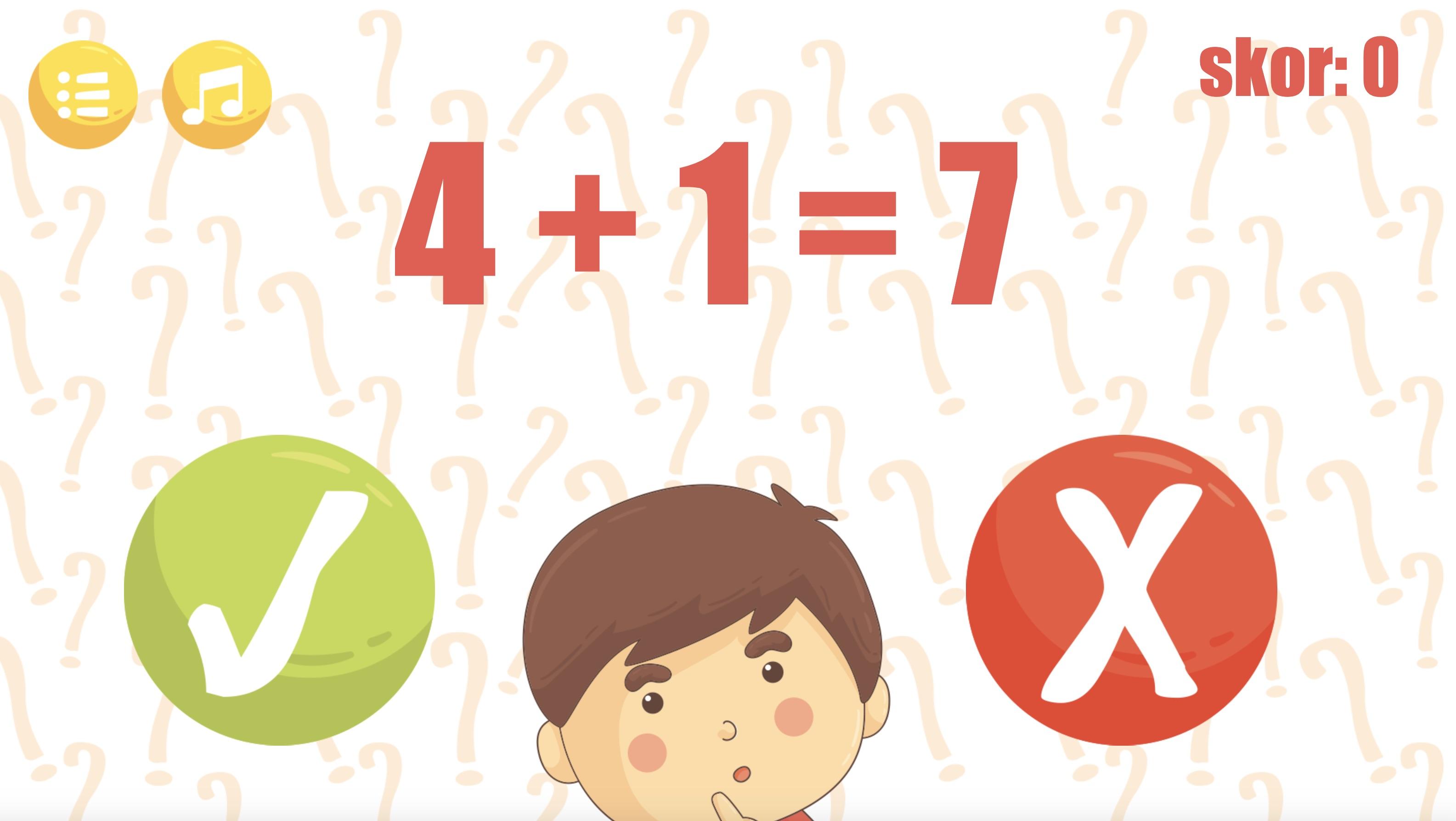Matematik Oyunu Doğru - Yanlış